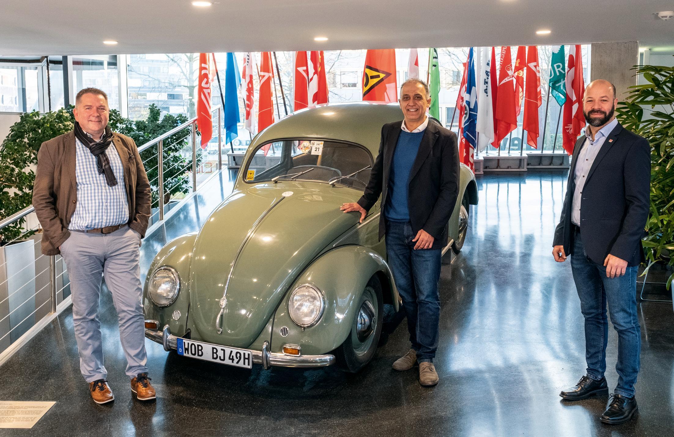 Die Geschäftsführer der IG-Metall-Geschäftsstelle Wolfsburg (von links): Matthias Disterheft, Flavio Benites und Christian Matzedda. © Roland Hermstein