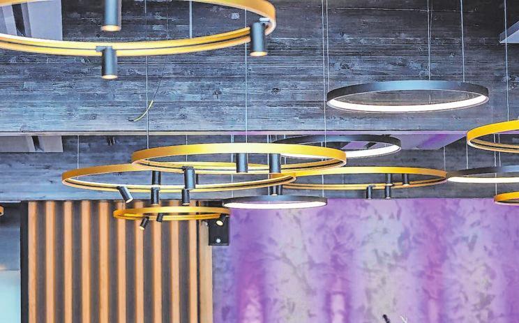Das Lichtkonzept in den Räumen der Genusswerkstatt wurde mit einem Lichtdesignpreis ausgezeichnet.