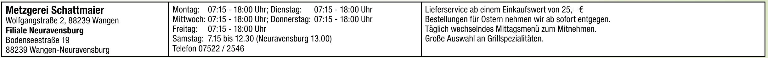 Metzgerei Schattmaier