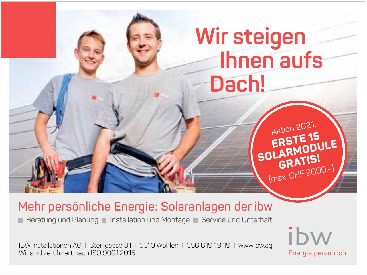 IBW Instalationen AG