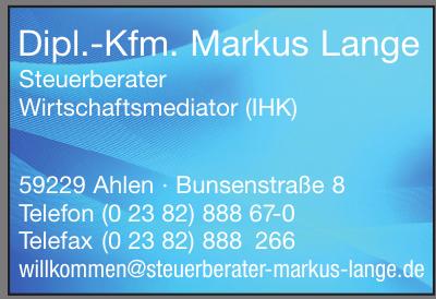 Dipl.-Kfm. Markus Lange Steuerberater Wirtschaftsmediator (IHK)