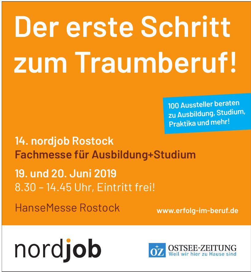 14. nordjob Rostock Fachmesse für Ausbildung+Studium