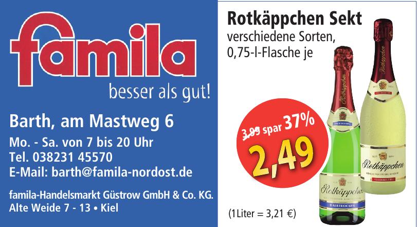 famila-Handelsmarkt Güstrow GmbH & Co. KG.