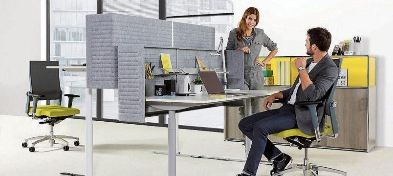 Aktiv-Bürostühle schaffen durch ihre hochflexible Bauweise Bewegungsanreize für die Angestellte.Bild: Dauphin/ AGR