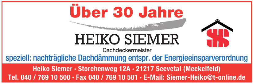 Heiko Siemer Dachdeckermeister