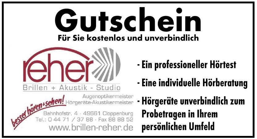 Reher Brillen + Akustik - Studio
