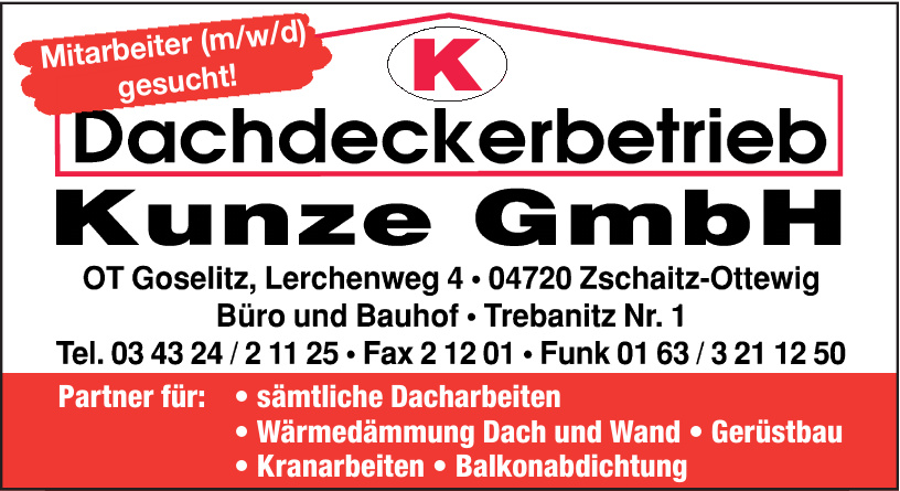 Dachdeckerbetrieb Kunze GmbH