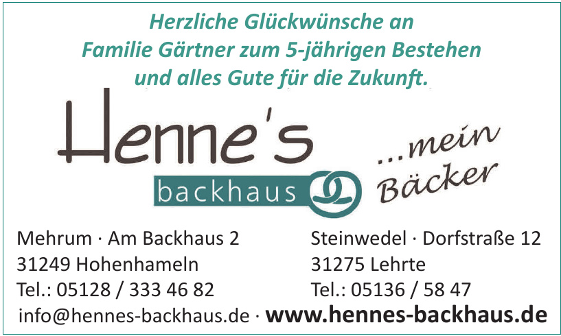 Henne's Backhaus