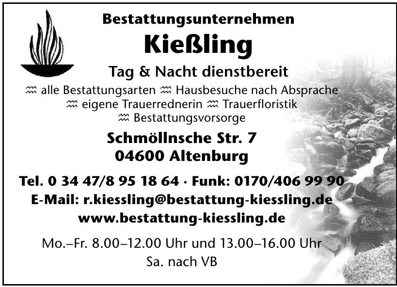 Bestattungsunternehmen Kießling