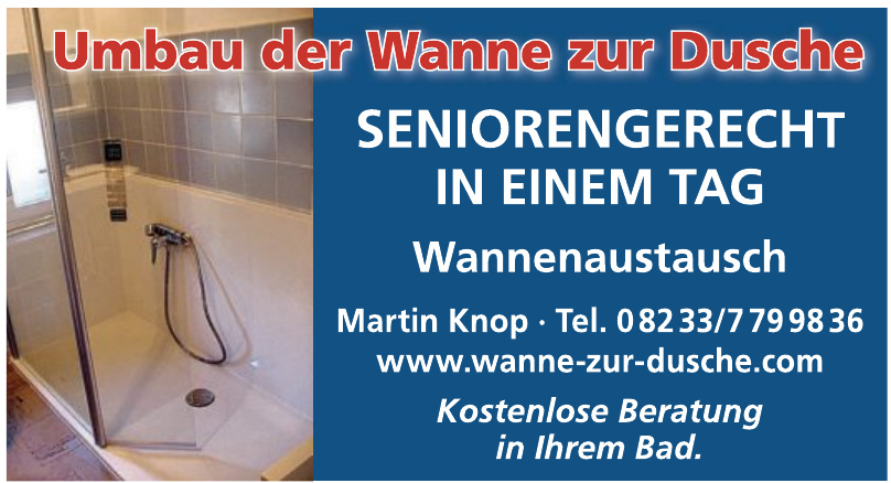 Martin Knop - Wanne zur Dusche