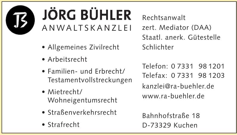 Jörg Bühler-Anwaltkanzlei