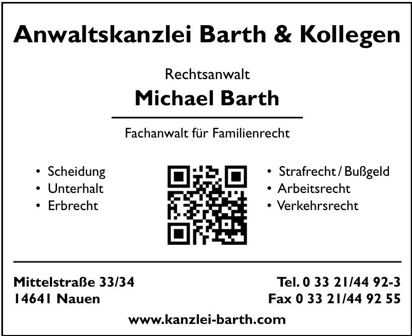 Rechtsanwalt Michael Barth