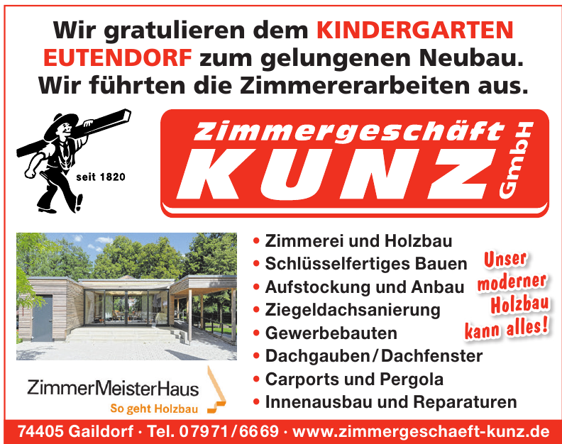 Zimmergeschäft Kunz GmbH