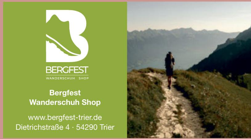 Bergfest Wanderschuh Shop