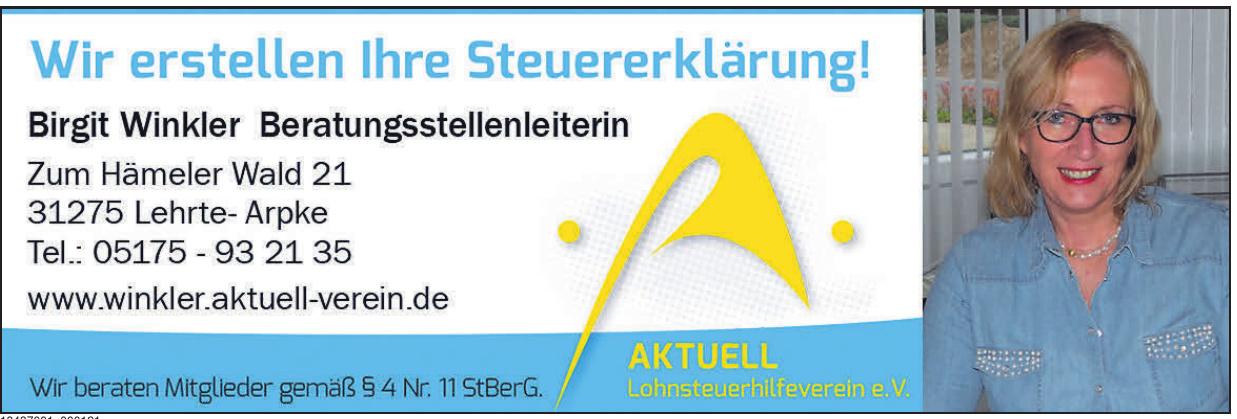 AKTUELL Lohnsteuerhilfeverein e. V.