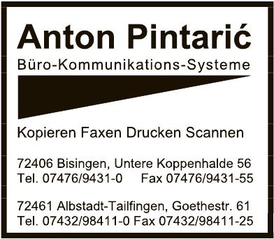 Anton Pintaric Büro-Kommunikations-Systeme