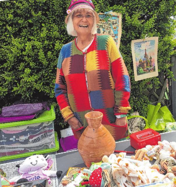 Die fröhliche Stimmung an den Flohmarktständen spiegelte die harmonische Atmosphäre beim Frühjahrsmarkt wieder