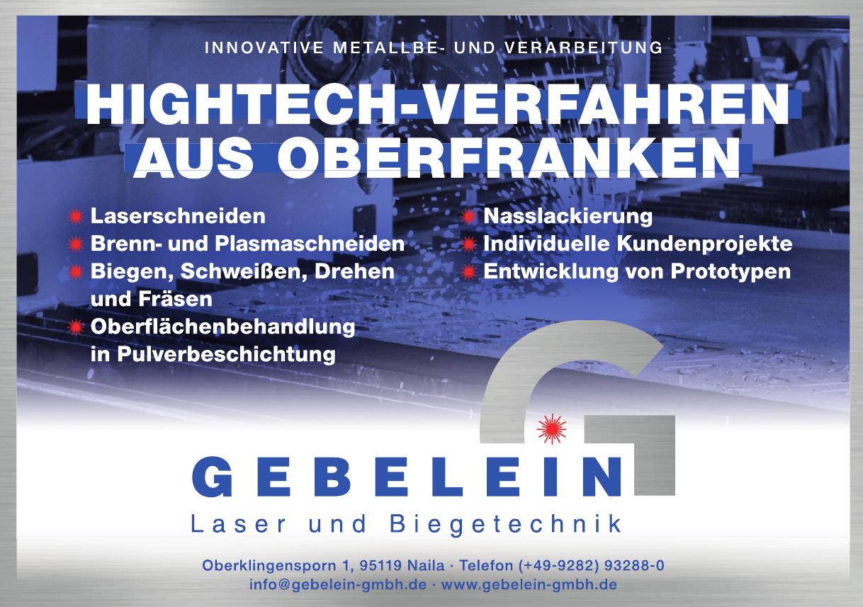 Gebelein - Laser und Biegetechnik GmbH