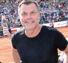Thomas Helmer, Ex Bayern und Nationalspieler, schaute auch öfter vorbei.