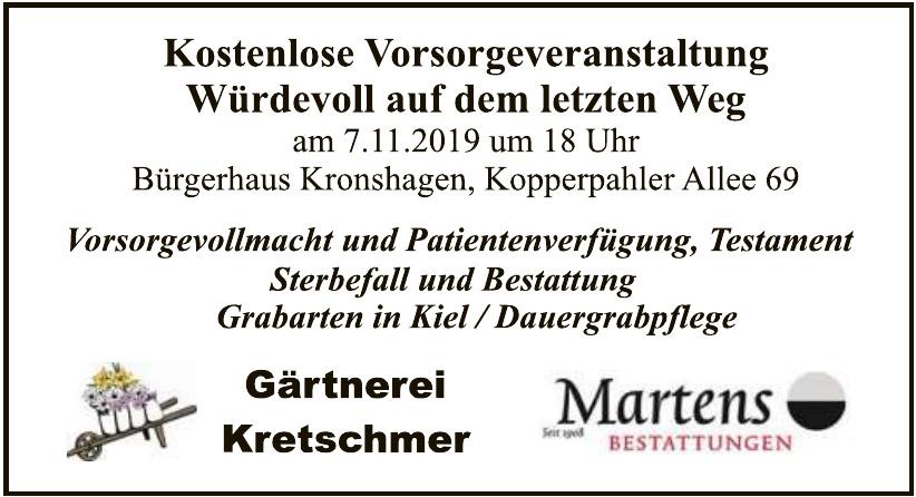 Gärtnerei Kretschmer Martens Bestattungen