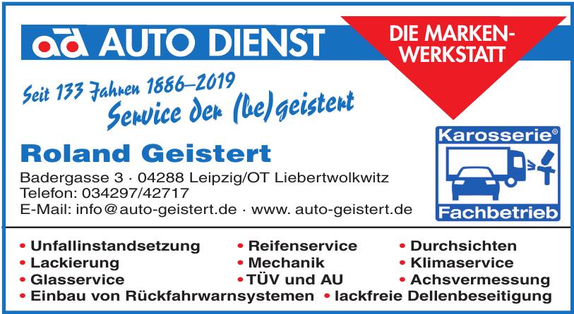 Auto Dienst Roland Geistert