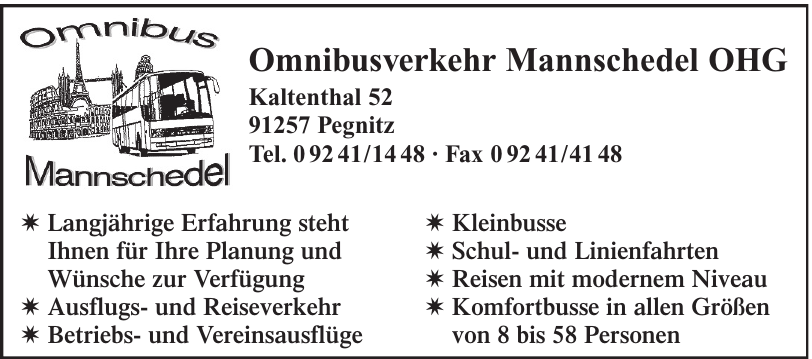 Omnibusverkehr Mannschedel OHG