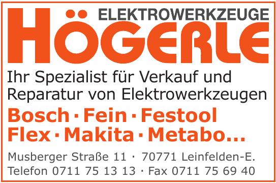 Elektrowerkzeuge Högerle GmbH