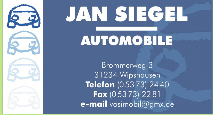 Jan Siegel Automobile