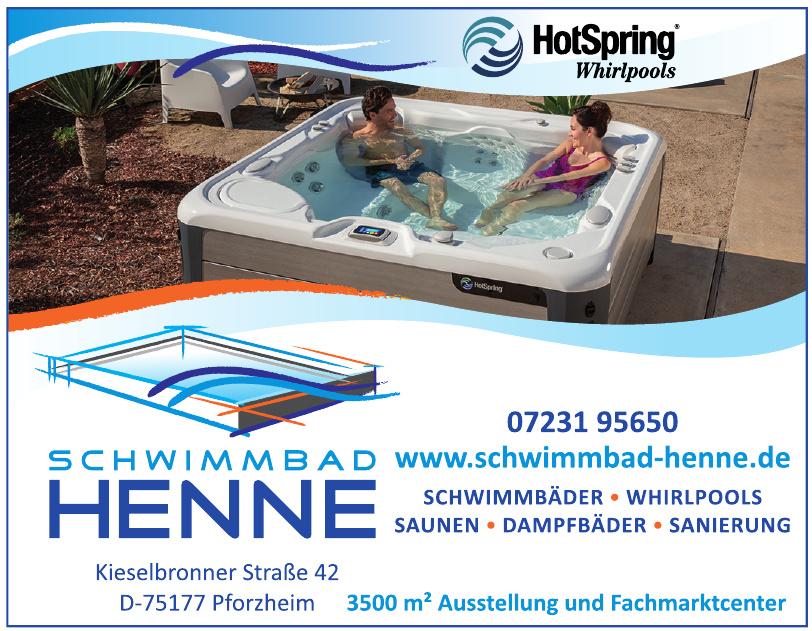 Schwimmbad-Henne