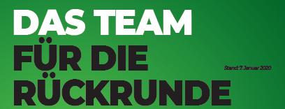 Das Team für die Rückrunde Image 1