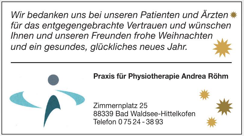 Praxis für Physiotherapie Andrea Röhm