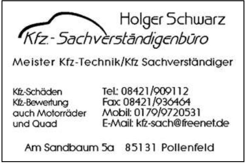 Holger Schwarz Kfz-Sachverständigenbüro
