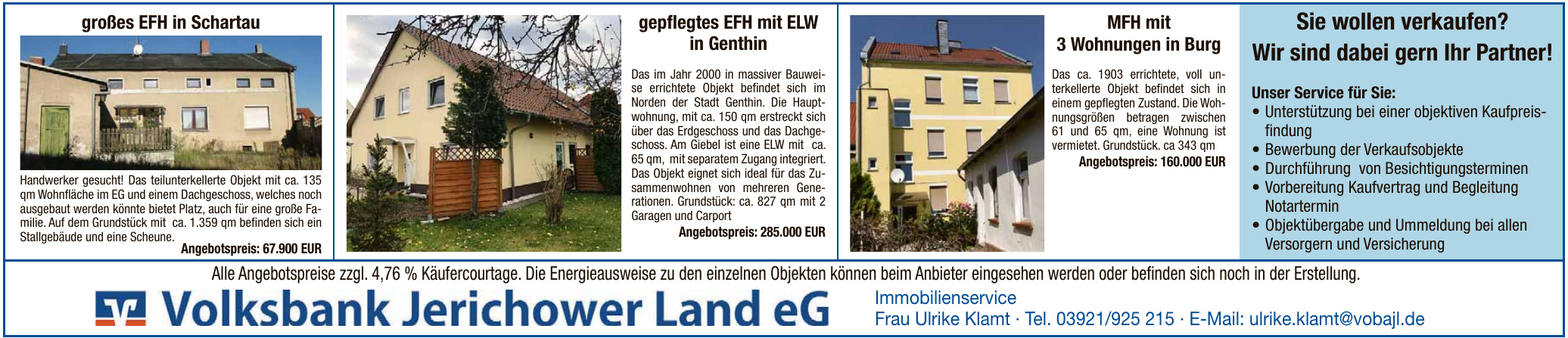 Volksbank Jerichower Land eG-Frau Ulrike Klamt