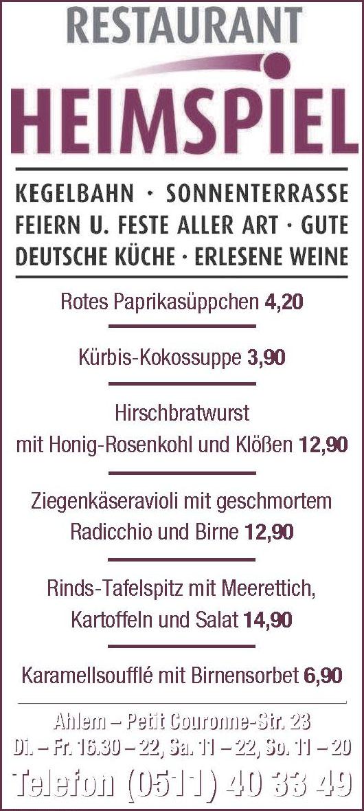 Restaurant Heimspiel