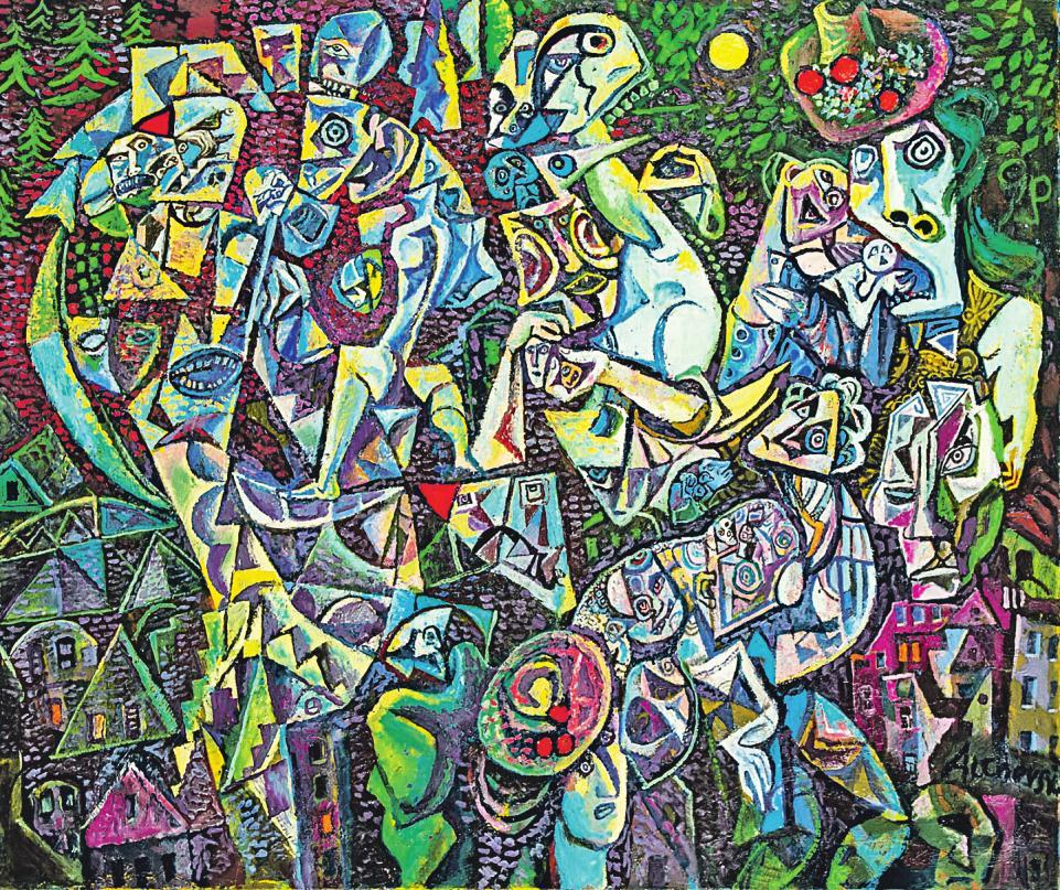 Ein Gemälde des russischen Künstlers Alexandr Alkhovksy