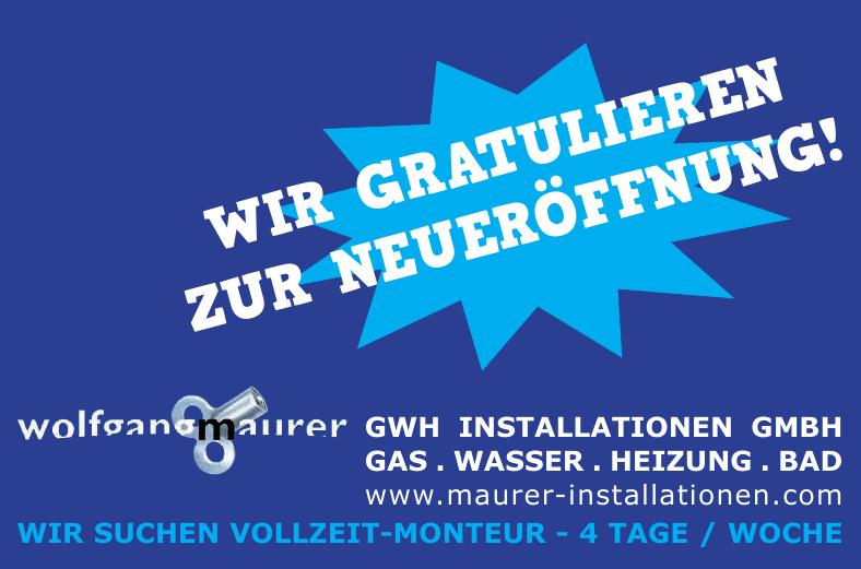 Maurer Wolfgang GWH Installationen GmbH