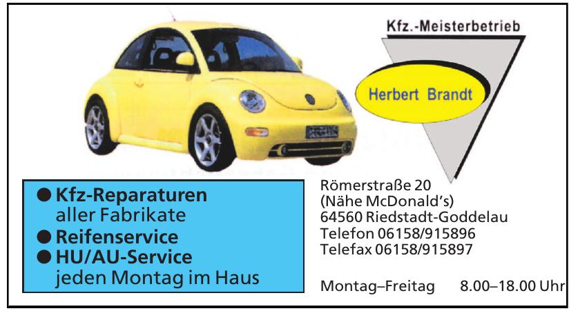 Kfz.-Meisterbetrieb Herbert Brandt