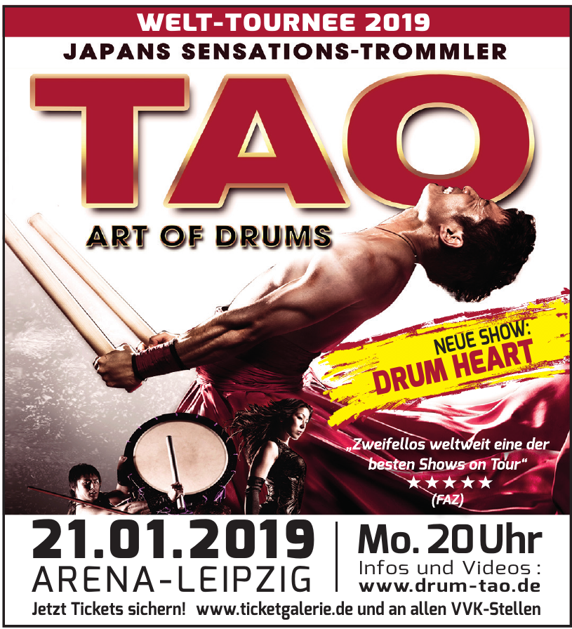 TAO Art of drums Arena Leipzig