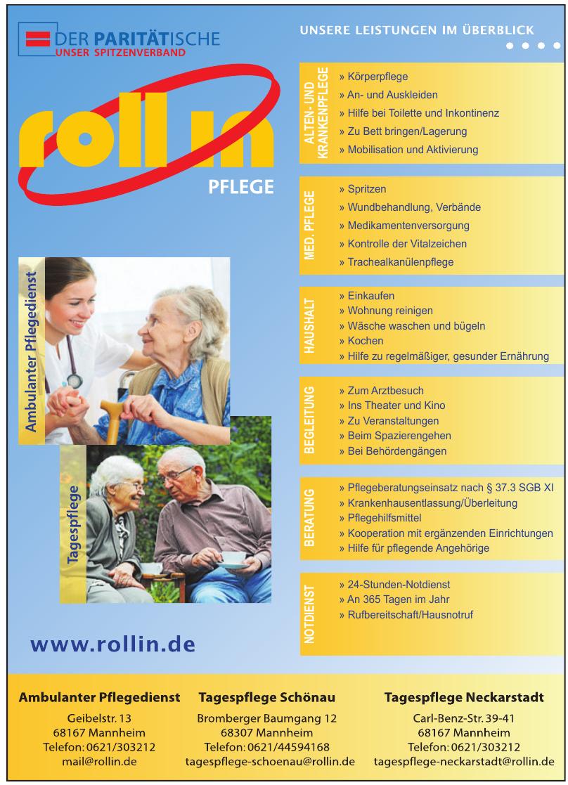 Roll in Pflege