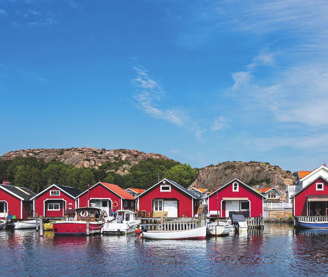 Idyllische Häuser im schwedischen Hamburgsund . Foto: Shutterstock | ricok
