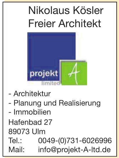 Nikolaus Kösler Freier Architekt