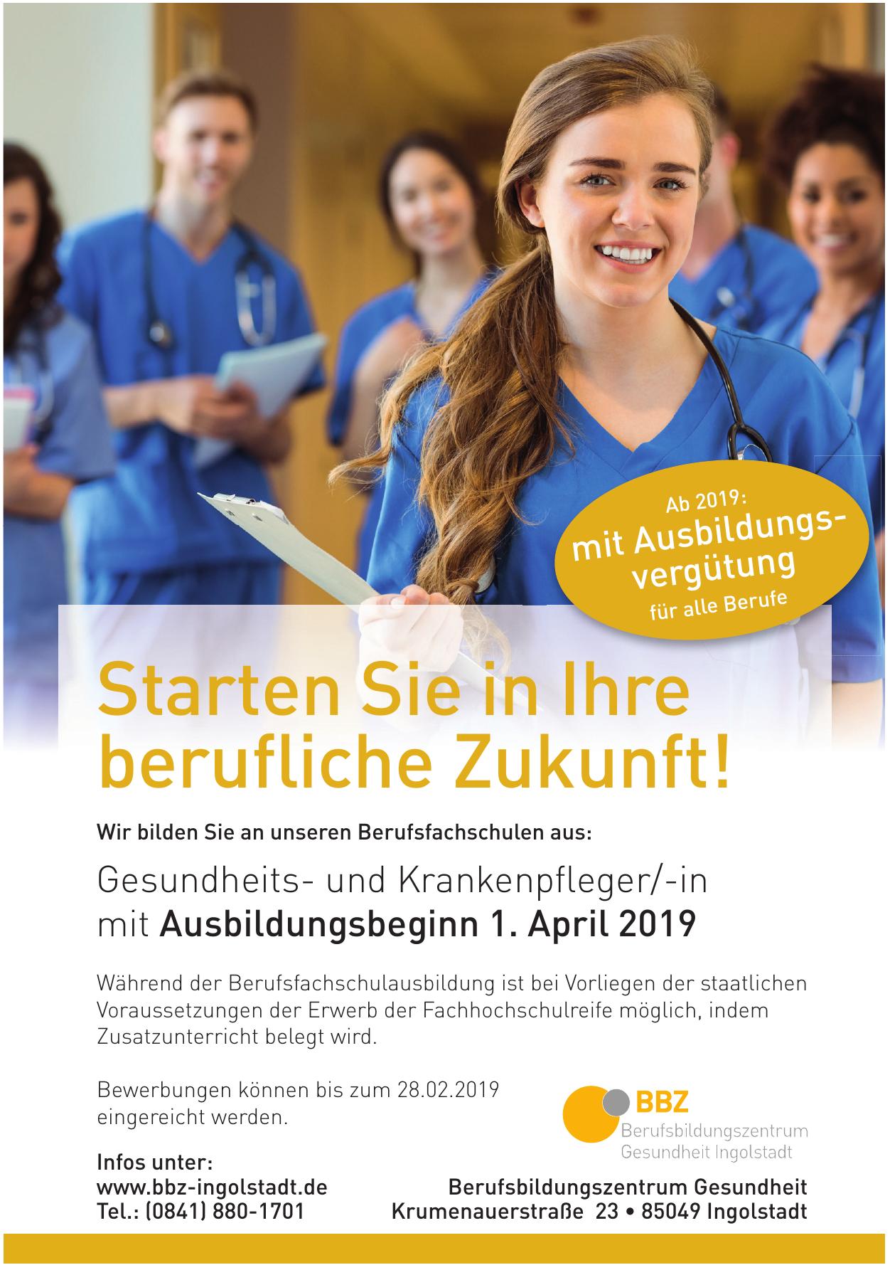 BBZ Berufsbildungszentrum Gesundheit Ingolstadt