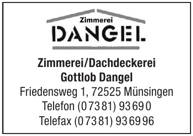 Zimmerei/Dachdeckerei Gottlob Dangel