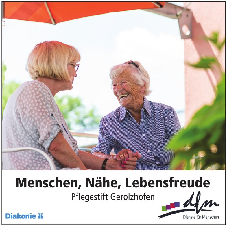 Menschen, Nähe, Lebensfreude - Pflegestift Gerolzhofen