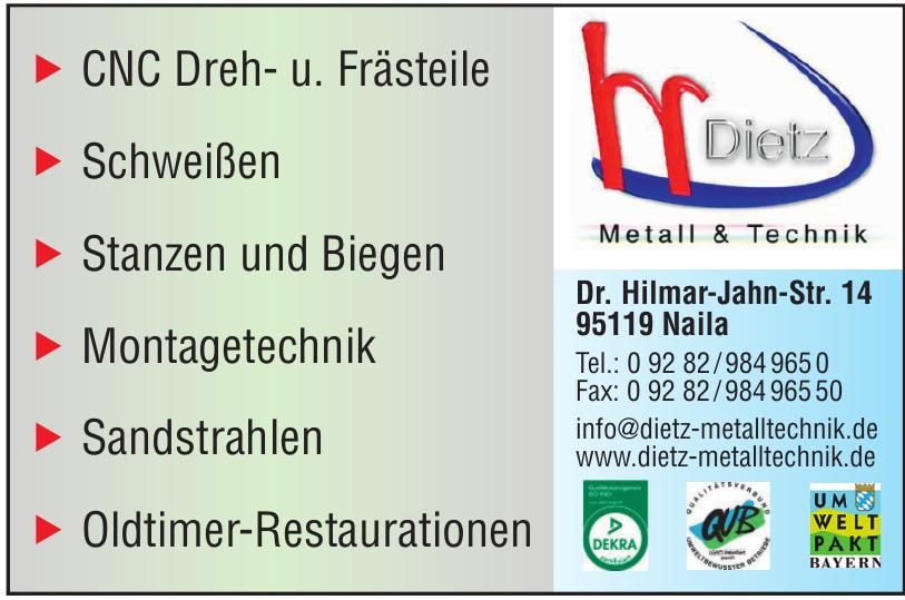DIETZ Metall & Technik