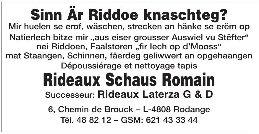 Rideaux Schaus Romain Successeur: Rideaux Laterza G & D