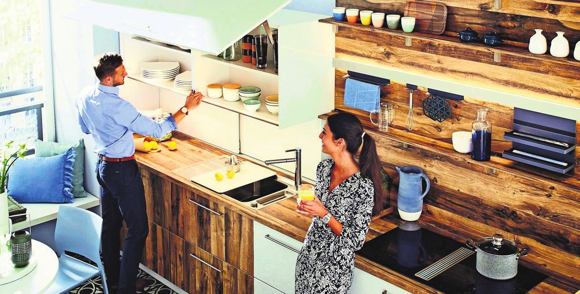 Geschirr und andere Utensilien sind problemlos erreichbar. Foto: dk danz küchen