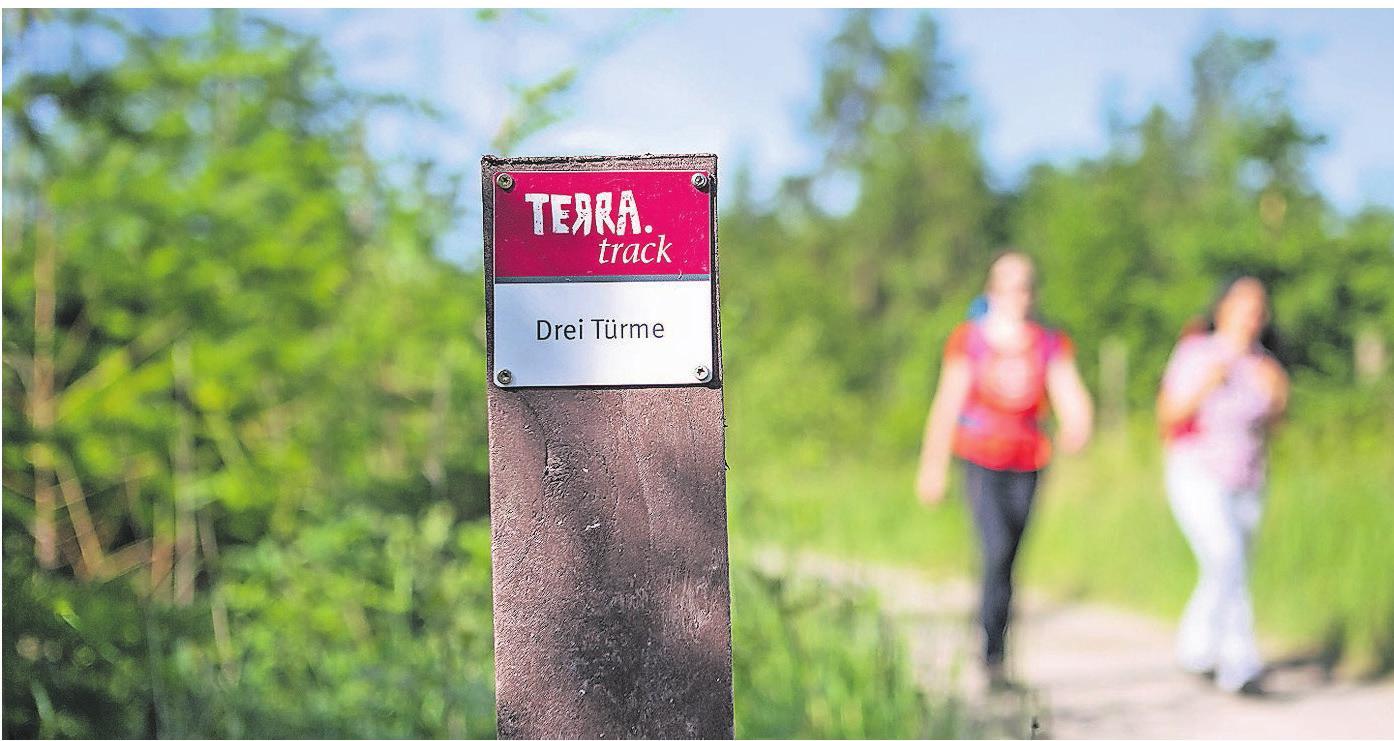 Gut geführt ans Ziel: Die Beschilderung der TERRA.tracks. Foto: Klaus Herzmann