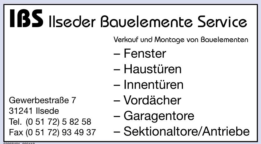 IBS Ilseder Bauelemente Service