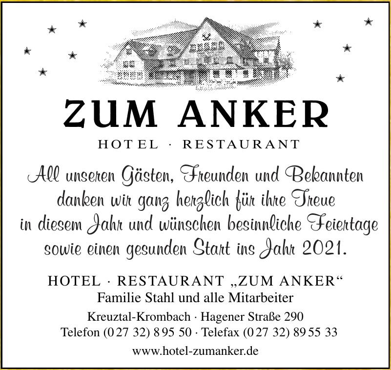 "Hotel Restaurant "" Zum Anker"""